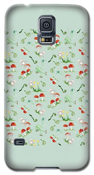 Woodland Fairy Tale - Red Mushrooms N Owls Galaxy S5 Case by Audrey Jeanne Roberts