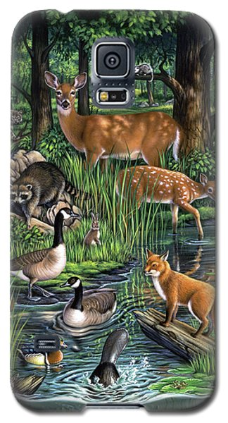 Geese Galaxy S5 Case - Woodland by Jerry LoFaro