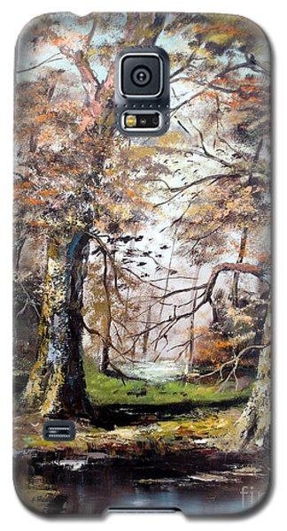 Galaxy S5 Case featuring the painting Woodland Pond  by Lee Piper