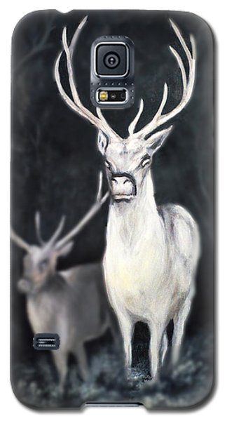 Galaxy S5 Case featuring the painting Woodland Spirits by Nancy Bradley