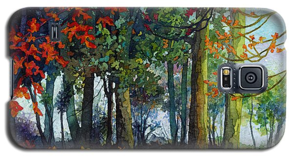 Galaxy S5 Case featuring the painting Woodland Trail by Hailey E Herrera