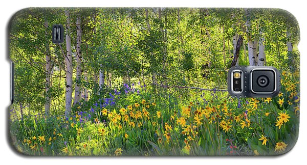 Galaxy S5 Case featuring the photograph Woodland Wildflowers by Tim Reaves
