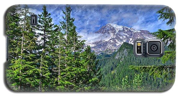 Woods Surrounding Mt. Rainier Galaxy S5 Case