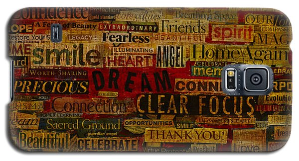 Galaxy S5 Case featuring the mixed media Words Matter by Gloria Rothrock