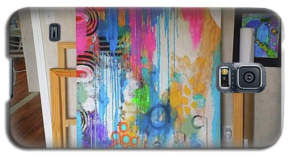Galaxy S5 Case - Working On A New Plywood..5 Ft X 3.5 Ft by Robin Mead