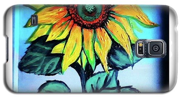 Working On This Sunflower. #sunflower Galaxy S5 Case by Genevieve Esson