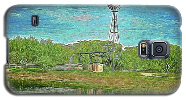 Galaxy S5 Case featuring the photograph Working Windmill  by Ray Shrewsberry