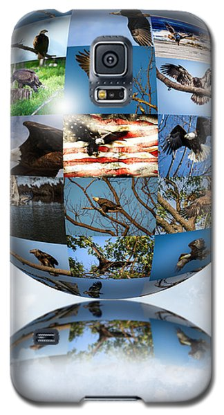 Galaxy S5 Case featuring the photograph World Full Of Eagles by Eleanor Abramson