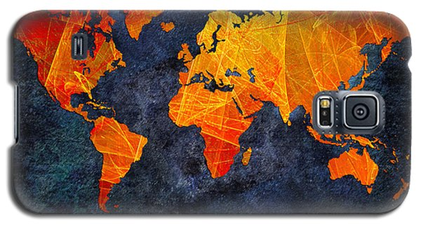 World Map - Elegance Of The Sun - Fractal - Abstract - Digital Art 2 Galaxy S5 Case