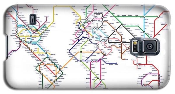 World Metro Tube Map Galaxy S5 Case by Michael Tompsett