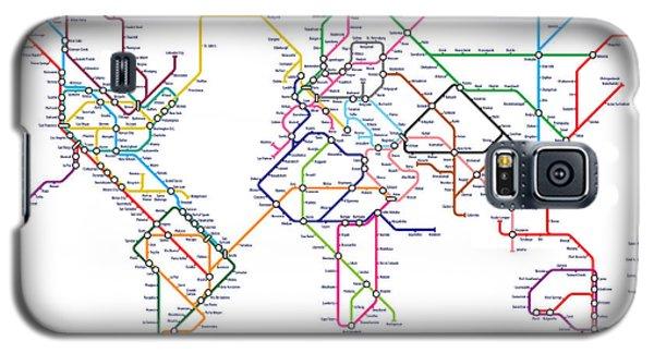 World Metro Tube Map Galaxy S5 Case