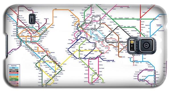 World Metro Tube Subway Map Galaxy S5 Case by Michael Tompsett