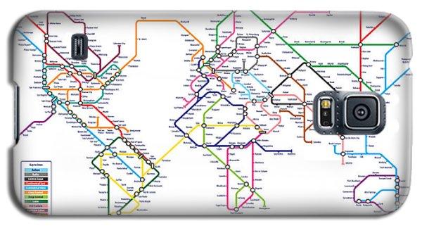 World Metro Tube Subway Map Galaxy S5 Case