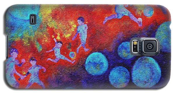 Galaxy S5 Case featuring the painting World Soccer Dreams by Claire Bull