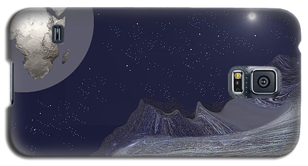 Galaxy S5 Case featuring the digital art 1657 - Worlds - 2017 by Irmgard Schoendorf Welch