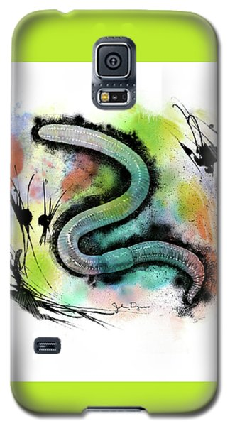 Worm Illustration Galaxy S5 Case