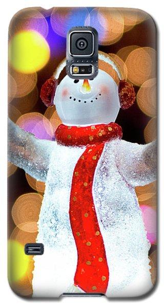 Worshiping Snowman Galaxy S5 Case