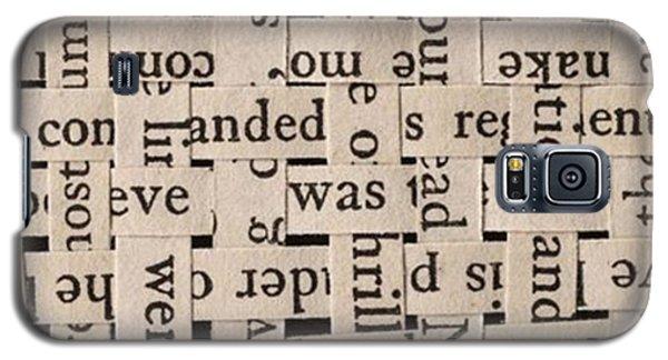 Woven Words By Edward M. Fielding - Galaxy S5 Case by Edward Fielding