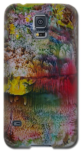Galaxy S5 Case featuring the painting Wow- Exotic Landscape by Sima Amid Wewetzer