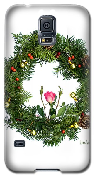 Galaxy S5 Case featuring the digital art Wreath With Rose by Lise Winne