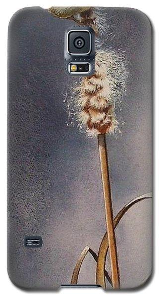 Wren And Cattails Galaxy S5 Case
