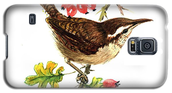 Wren And Rosehips Galaxy S5 Case by Nell Hill