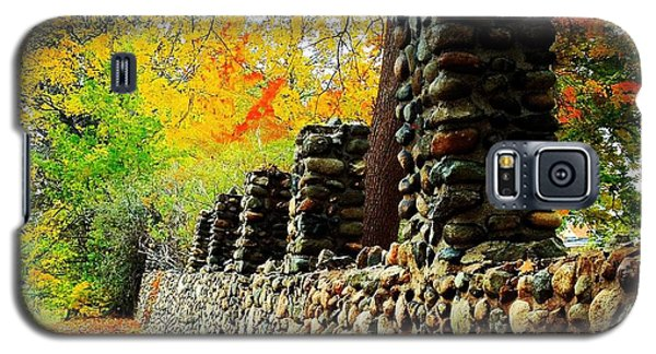 Wright Park Stone Wall In Fall Galaxy S5 Case