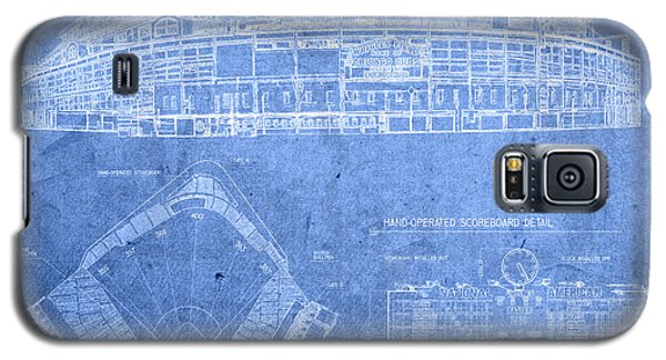 Wrigley Field Chicago Illinois Baseball Stadium Blueprints Galaxy S5 Case by Design Turnpike
