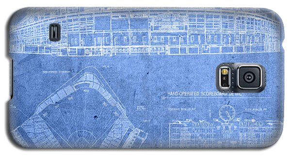 Wrigley Field Chicago Illinois Baseball Stadium Blueprints Galaxy S5 Case