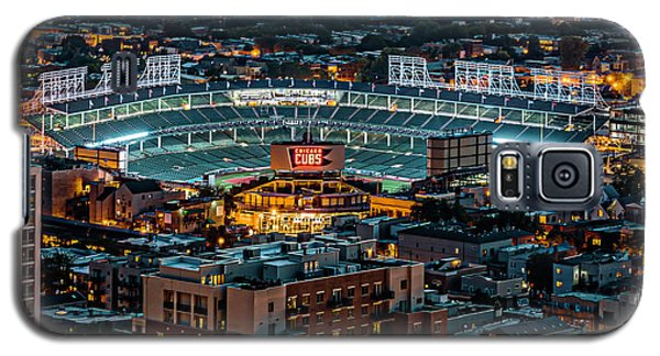 Wrigley Field From Park Place Towers Dsc4678 Galaxy S5 Case by Raymond Kunst