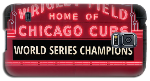 Wrigley Field Marquee Cubs World Series Champs 2016 Front Galaxy S5 Case