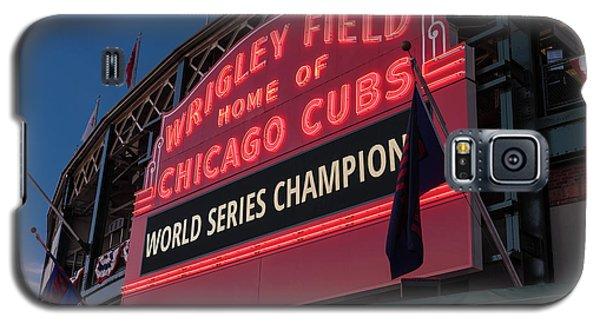 Wrigley Field World Series Marquee Galaxy S5 Case by Steve Gadomski