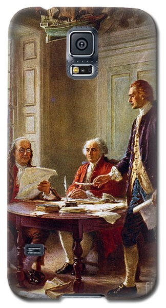 Writing The Declaration Of Independence, 1776, Galaxy S5 Case by Leon Gerome Ferris