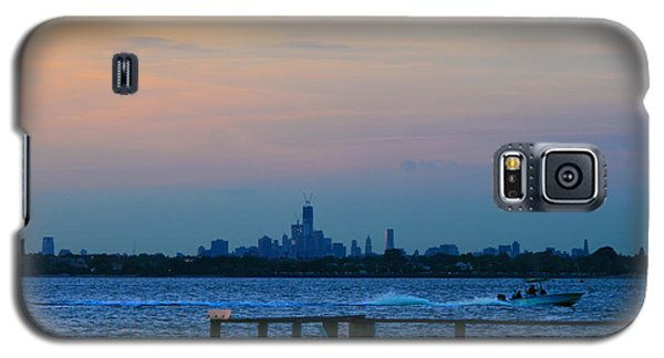 Wtc Over Jamaica Bay From Rockaway Point Pier Galaxy S5 Case