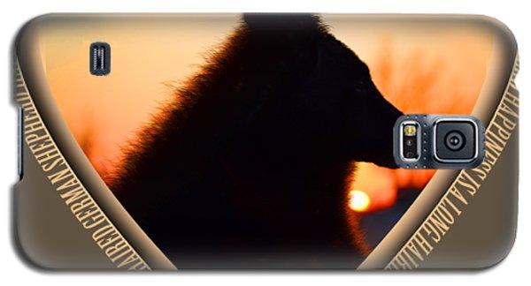Wuffstar Happiness Is A Long Haired German Shepherd Heart Galaxy S5 Case