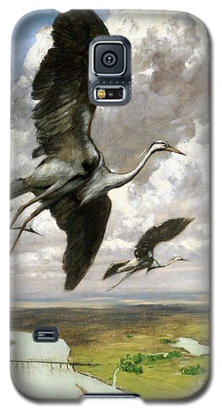 Galaxy S5 Case featuring the painting Wundervogel by Pg Reproductions