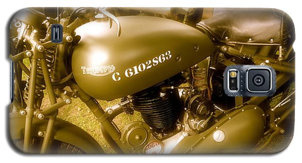Wwii Triumph Despatch Rider Motorcycle Galaxy S5 Case by John Colley