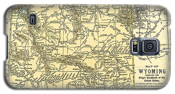 Wyoming Antique Map 1891 Galaxy S5 Case