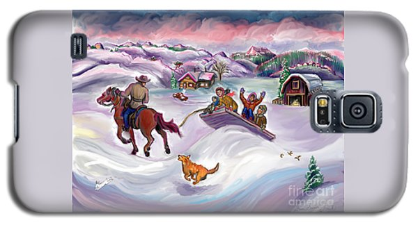 Wyoming Ranch Fun In The Snow Galaxy S5 Case