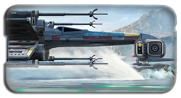 Space Ships Galaxy S5 Case - X-wing Full Throttle  by Kurt Miller