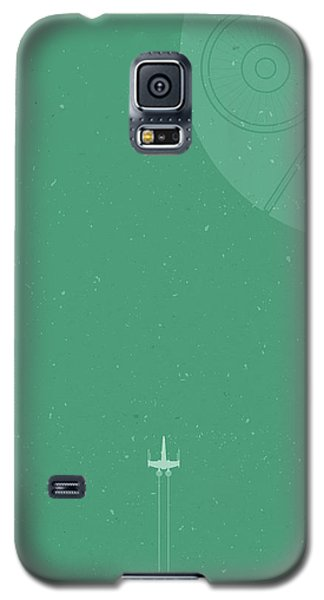 X-wing Meets Death Star Galaxy S5 Case by Samuel Whitton