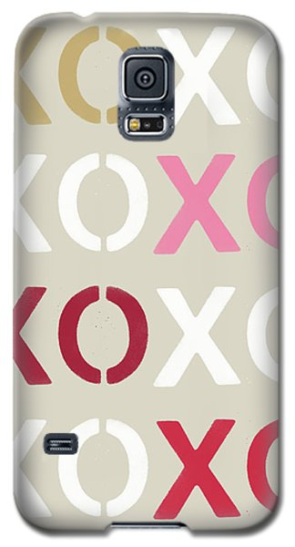 Galaxy S5 Case featuring the mixed media Xoxo- Art By Linda Woods by Linda Woods