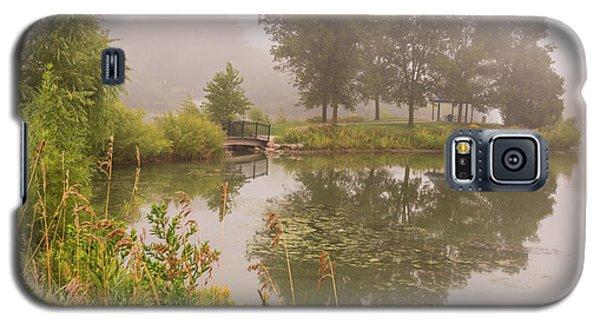 Misty Pond Bridge Reflection #5 Galaxy S5 Case