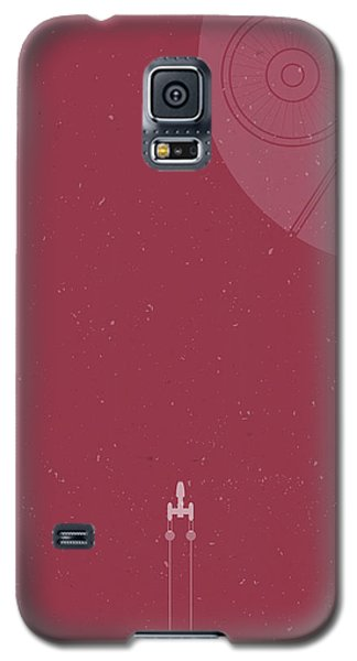 Space Ships Galaxy S5 Case - Y-wing Bomber Meets Death Star by Samuel Whitton