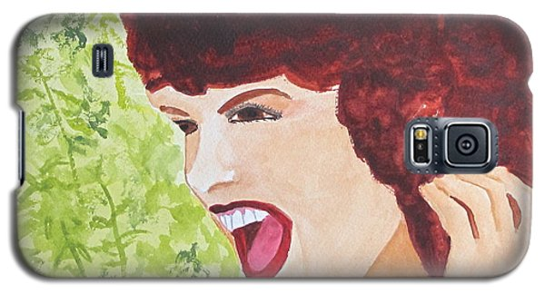 Galaxy S5 Case featuring the painting Yah by Sandy McIntire
