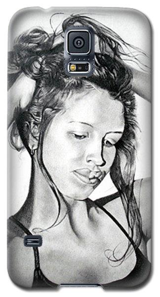 Galaxy S5 Case featuring the drawing Yaha by Mayhem Mediums