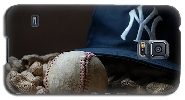 Galaxy S5 Case featuring the photograph Yankee Cap Baseball And Peanuts by Terry DeLuco