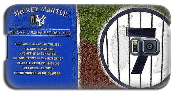 Yankee Legends Number 7 Galaxy S5 Case by David Lee Thompson