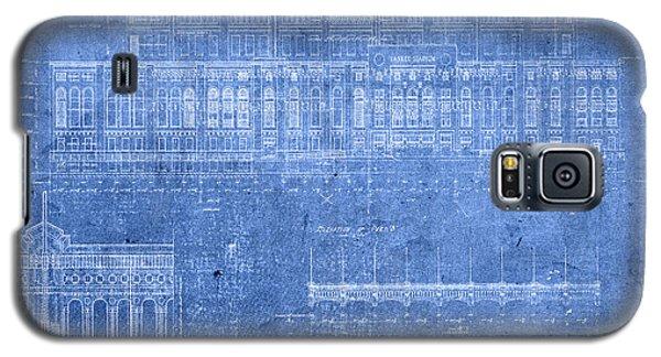 Yankee Stadium New York City Blueprints Galaxy S5 Case by Design Turnpike