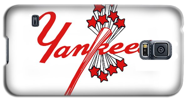 Galaxy S5 Case featuring the digital art Yankees Vintage by Gina Dsgn